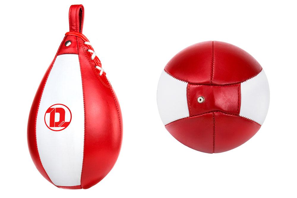 Пневматическая груша Dozen Absolute красно-белая конструкция и наполнитель