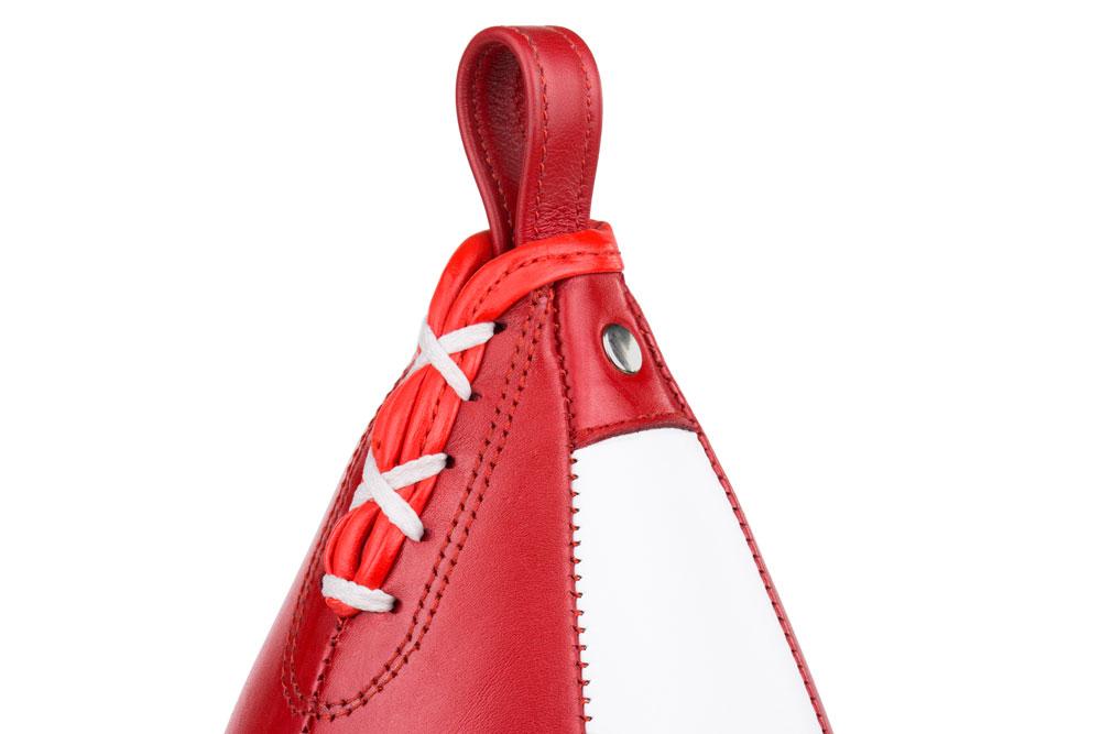 Пневматическая груша Dozen Absolute красно-белая фиксация и шнуровка