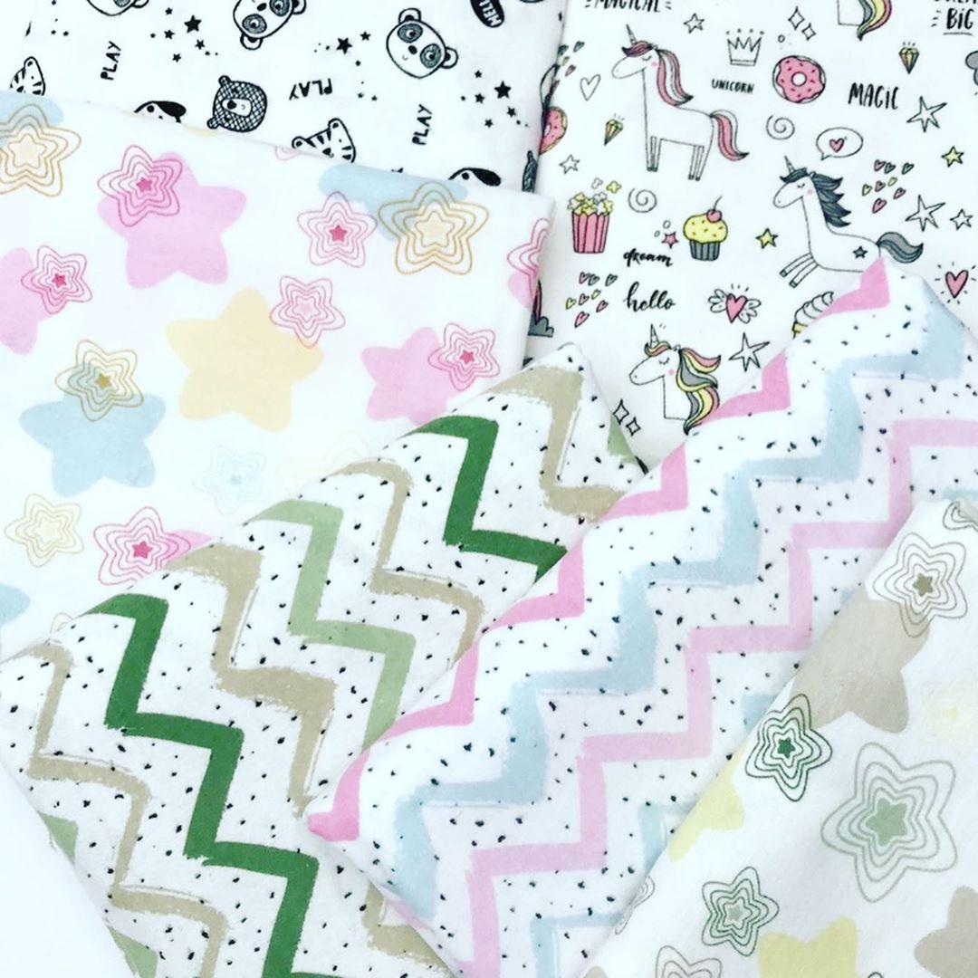 Купить ткань фланель для новорожденных