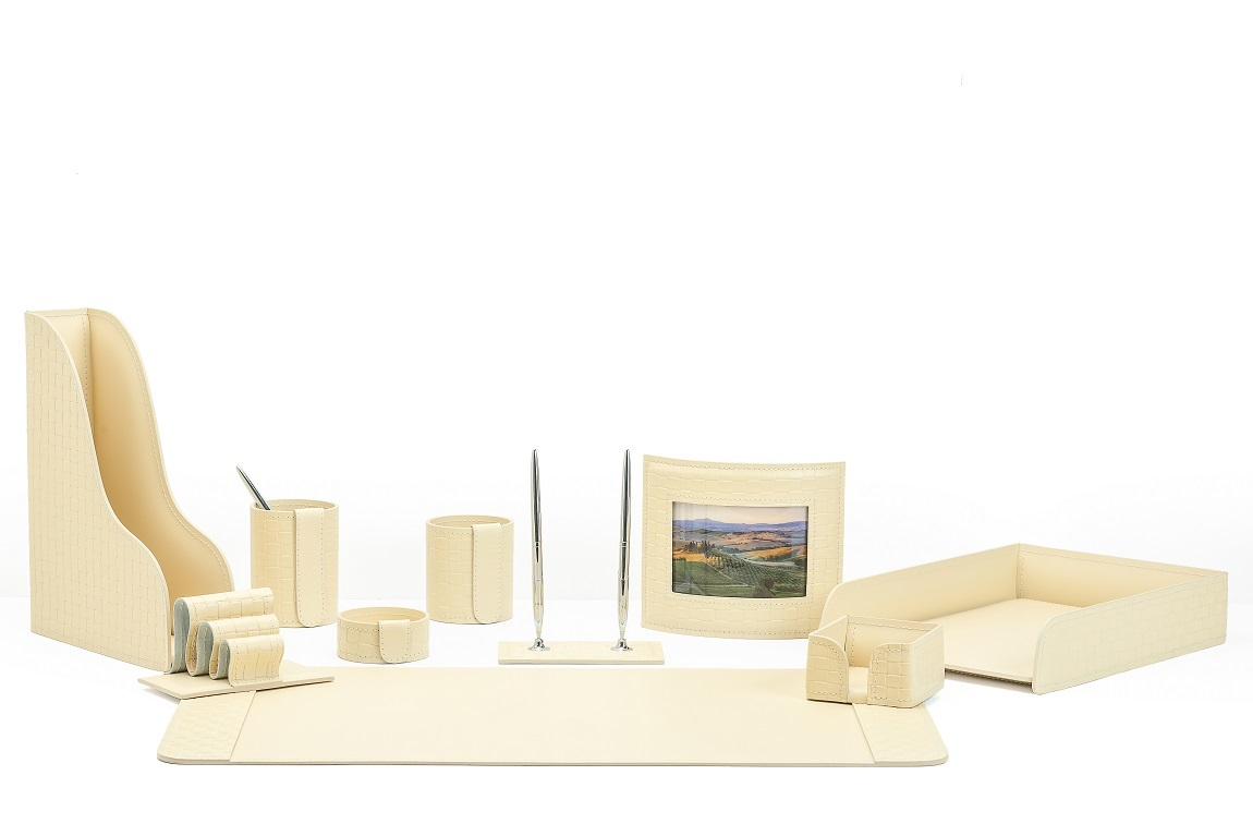 офисный набор на стол с фоторамкой бежевый бувардо