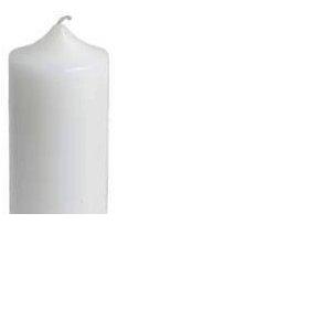 Свеча-столбик белая