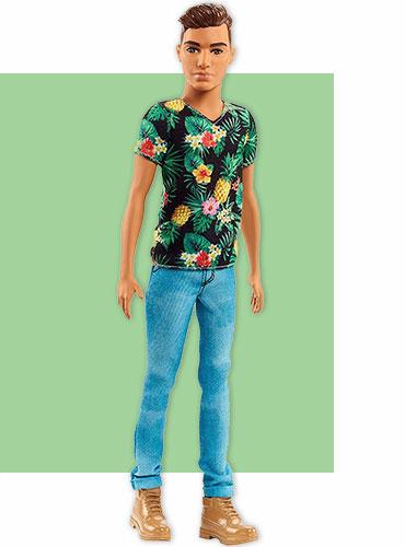 Модная кукла Кен - стиль тропиков