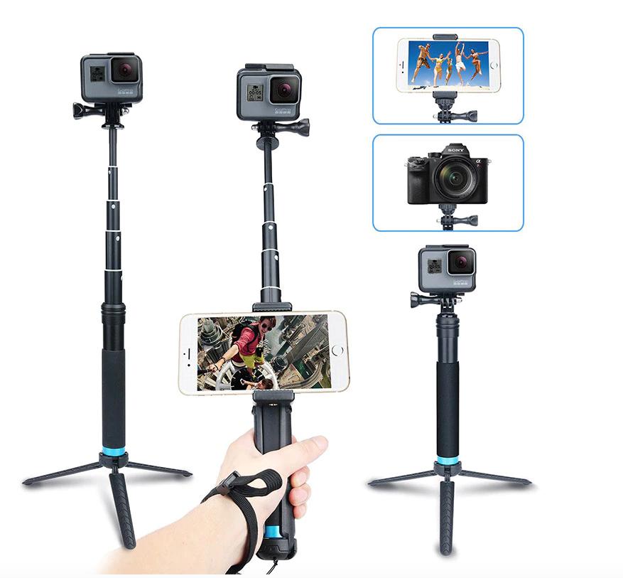 Алюминиевый монопод-штатив тренога Telesin для GoPro