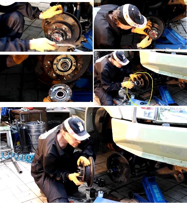 Замена тормозного диска автомобиля