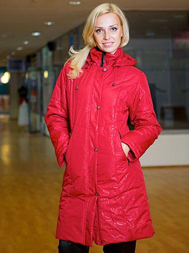 Пальто Maritta красного цвета