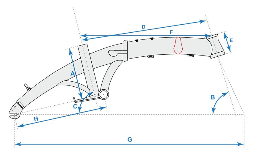 Складная велосипедная рама corto