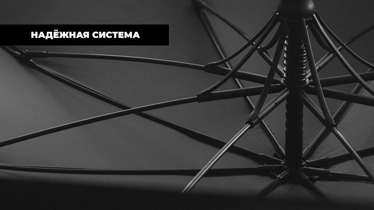 Изысканный темно-синий зонт трость | ZC Caballero design
