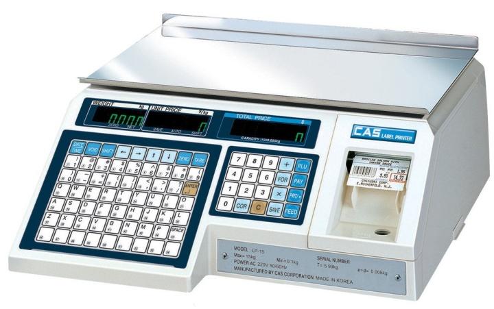 Компактные весы компании CAS с печатью этикеток для торгового зала