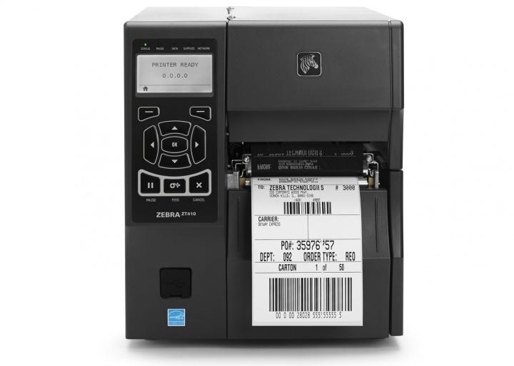 Промышленный принтер этикеток компании Zebra с поддержкой удаленной печати