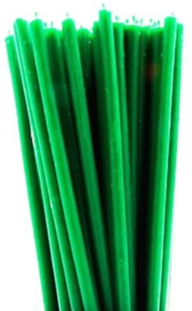Свечи зеленые восковые