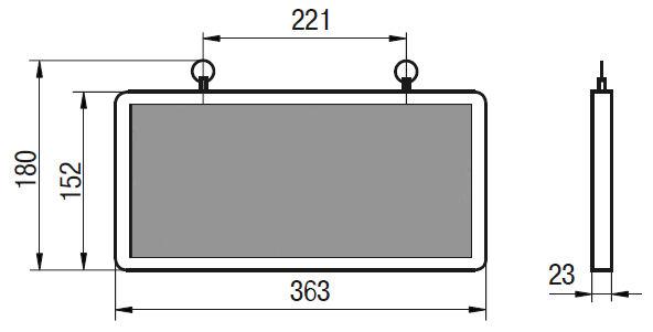 Технический чертеж аварийного светильника ССА 1004