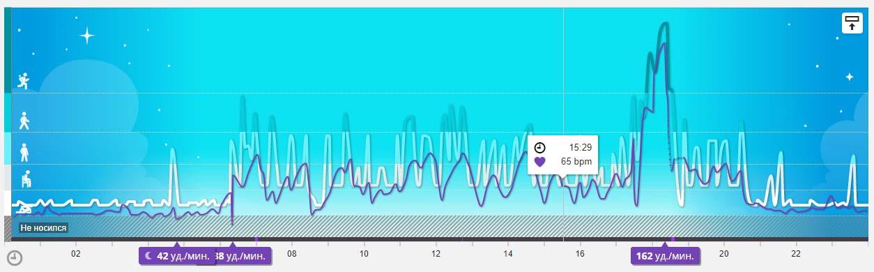 График пульса в Polar Flow