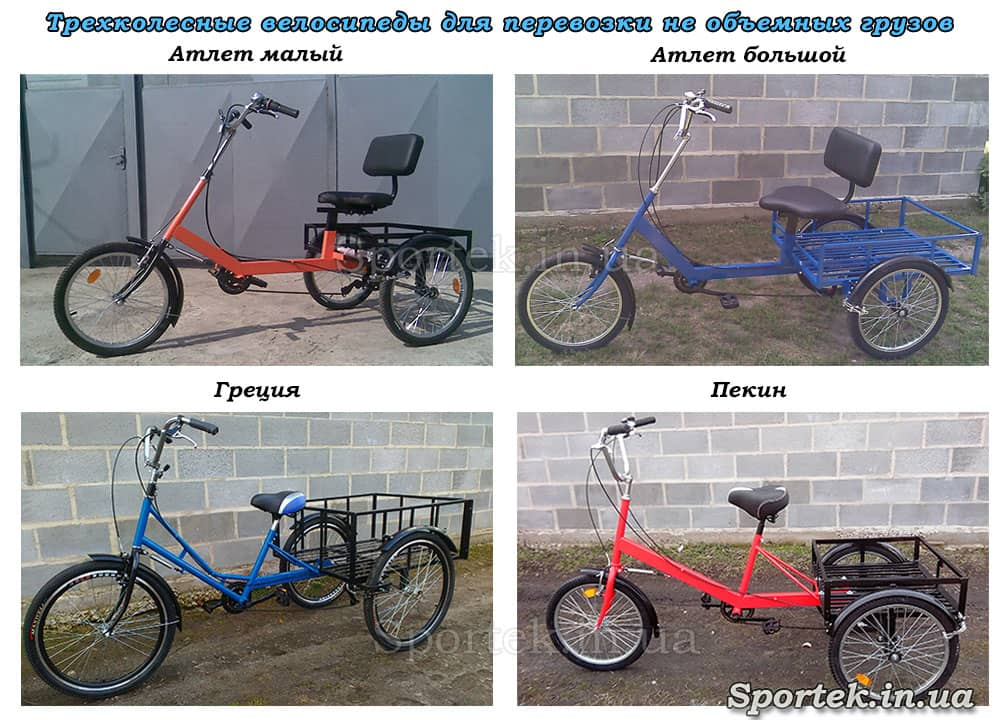 Вантажні триколісні велосипеди
