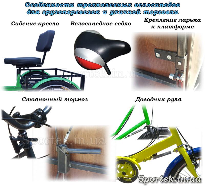 особливості конструкції вантажних триколісних велосипедів