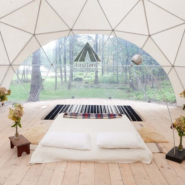 глэмпинг шатер вид изнутри