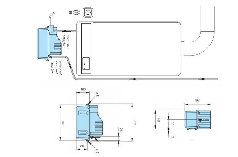 Схема монтажа конденсатного насоса