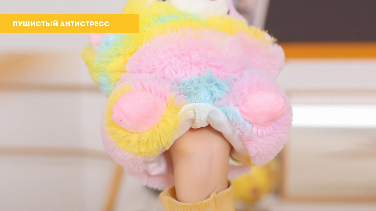 """Мягкая игрушка-перчатка """"Белая альпака"""" (25 см)"""