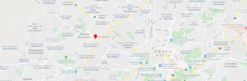 Карта магазина в Афинах
