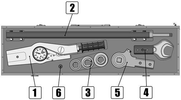 ключ моментный шкальный (индикаторный) КМ600 состав комплекта