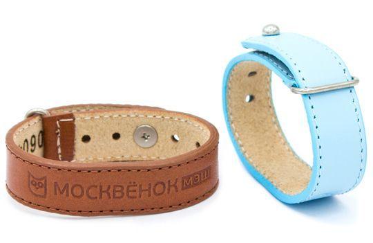 Кожаный браслет Москвёнок - два браслета рядом