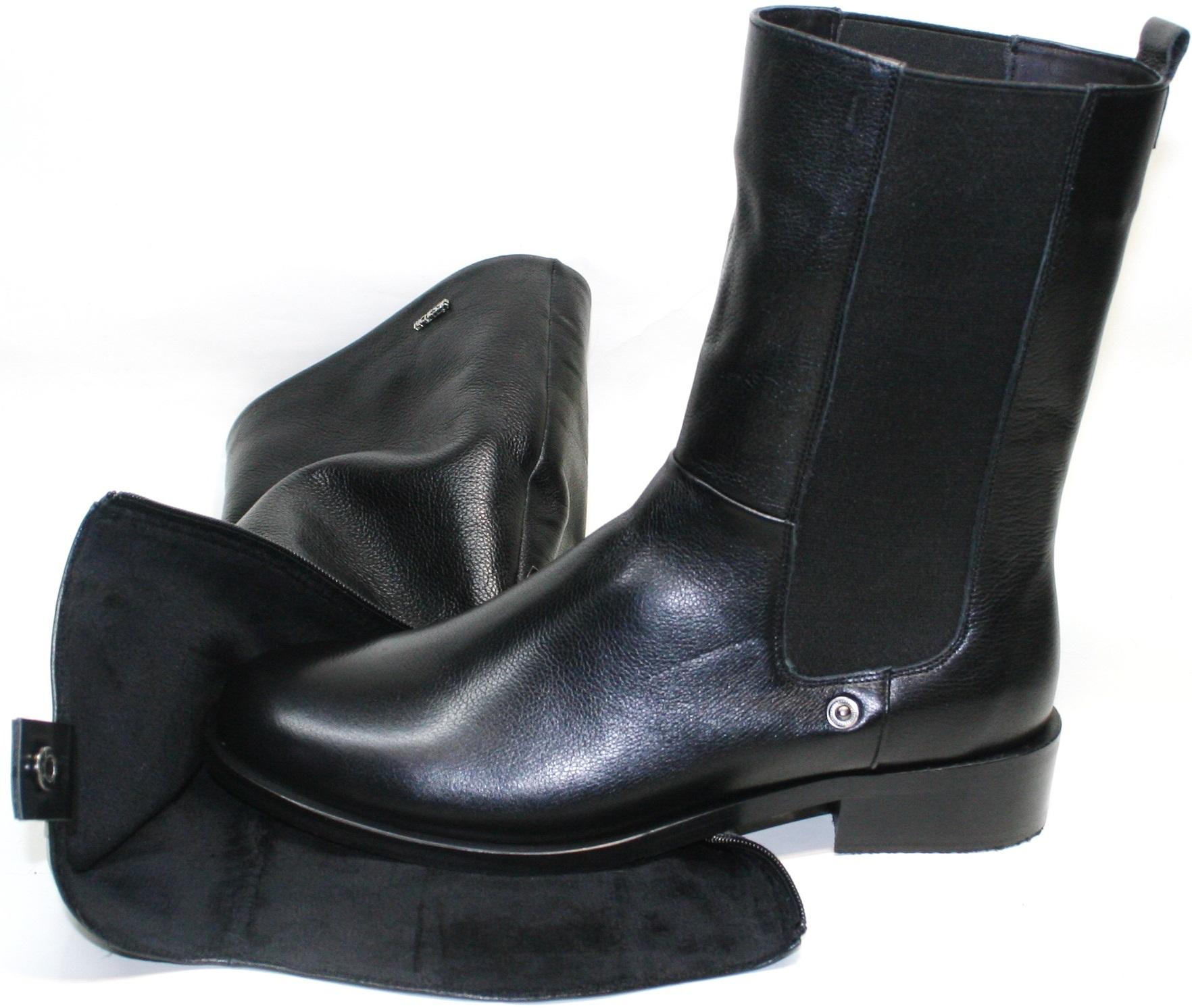 Черные зимние ботинки сапоги Ричессе R 458