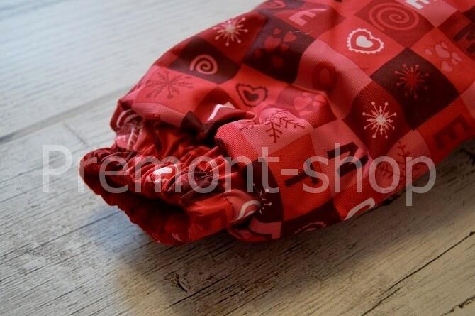 Рукав на комбинезоне Premont красные льдинки
