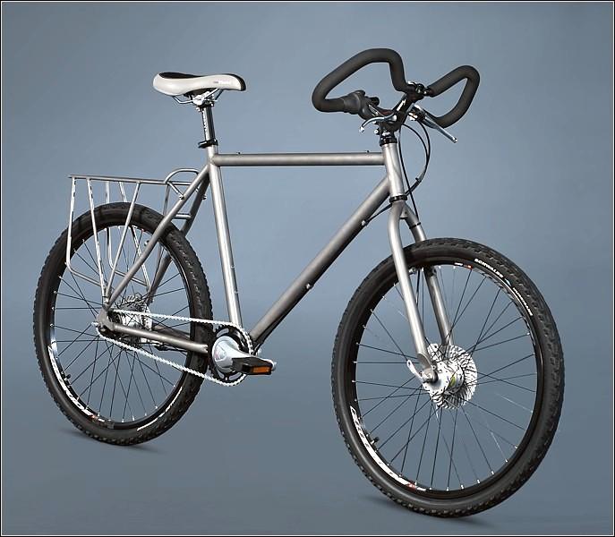 Велосипед с титановой рамой