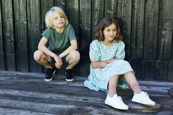 Детские кеды Viking в черном цвете