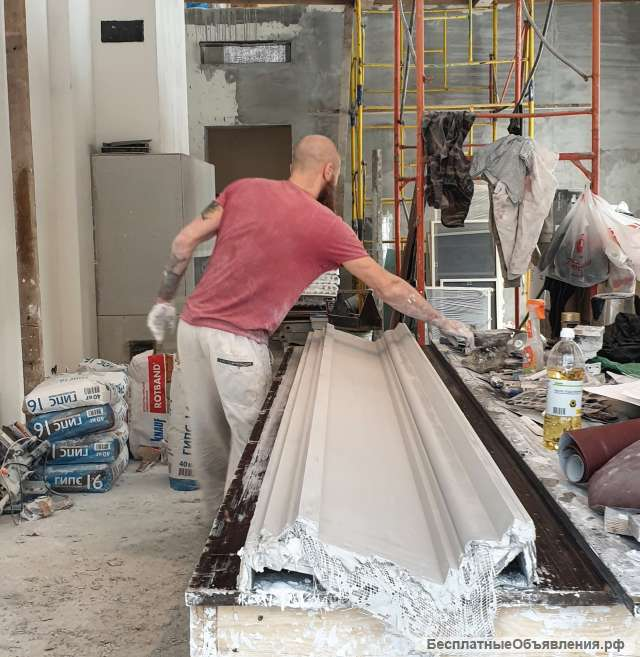 производство лепнины из гипса