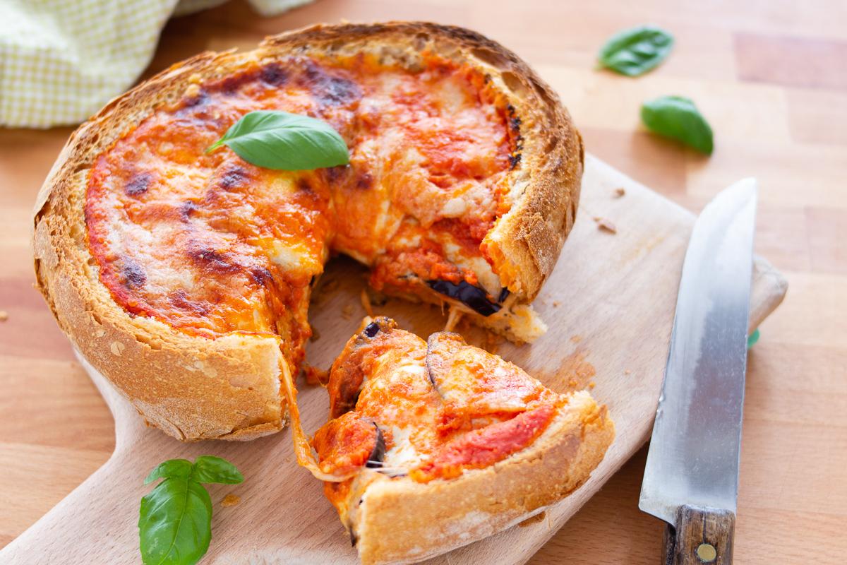 Фаршированный хлеб, вкусный и быстрый завтрак