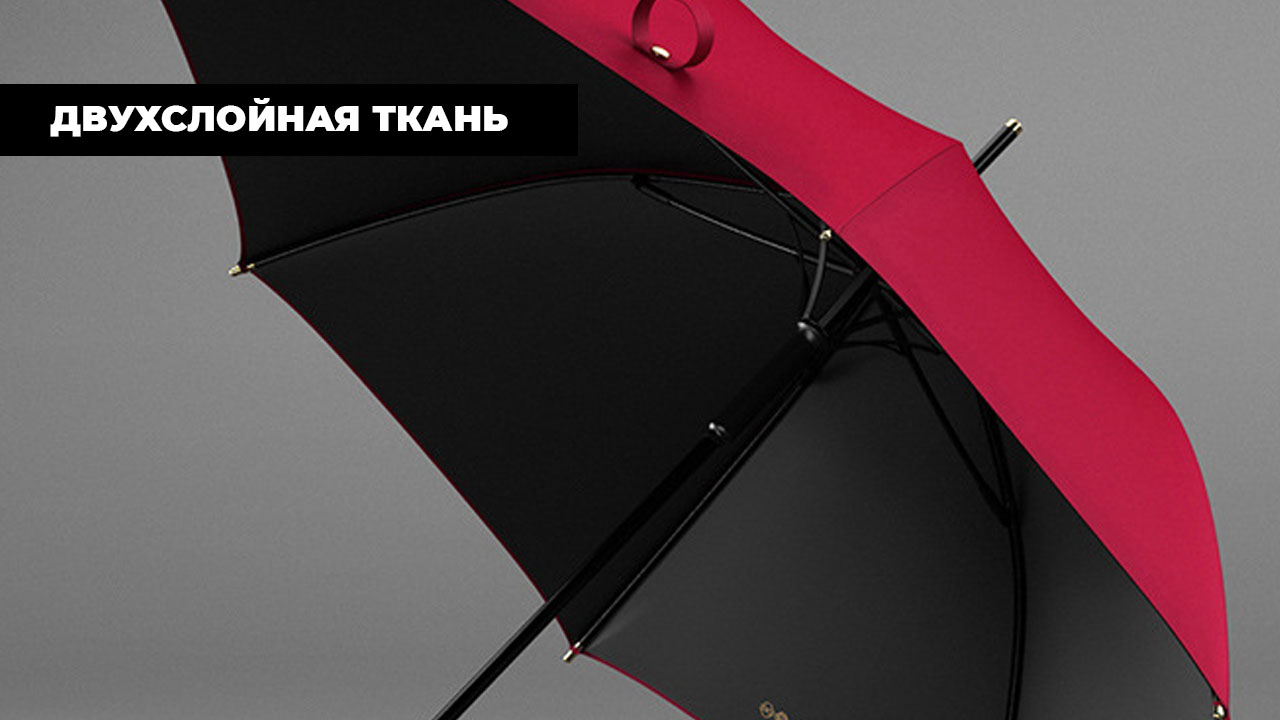 Изысканный красный зонт трость | ZC Caballero design