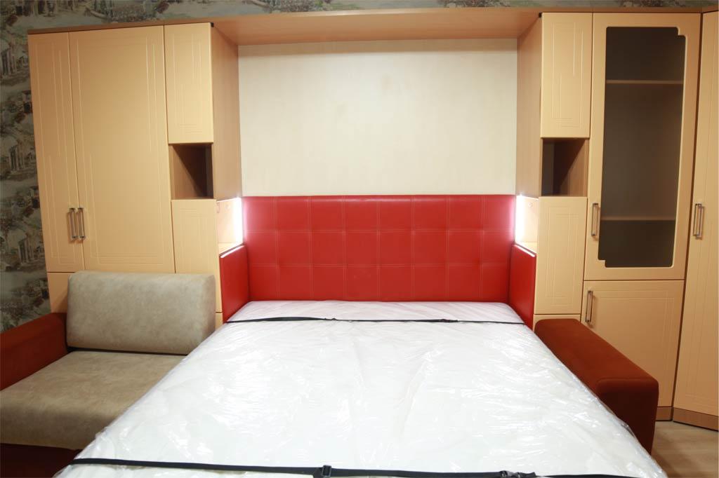 Шкаф-кровать Глория с удлиненным диваном
