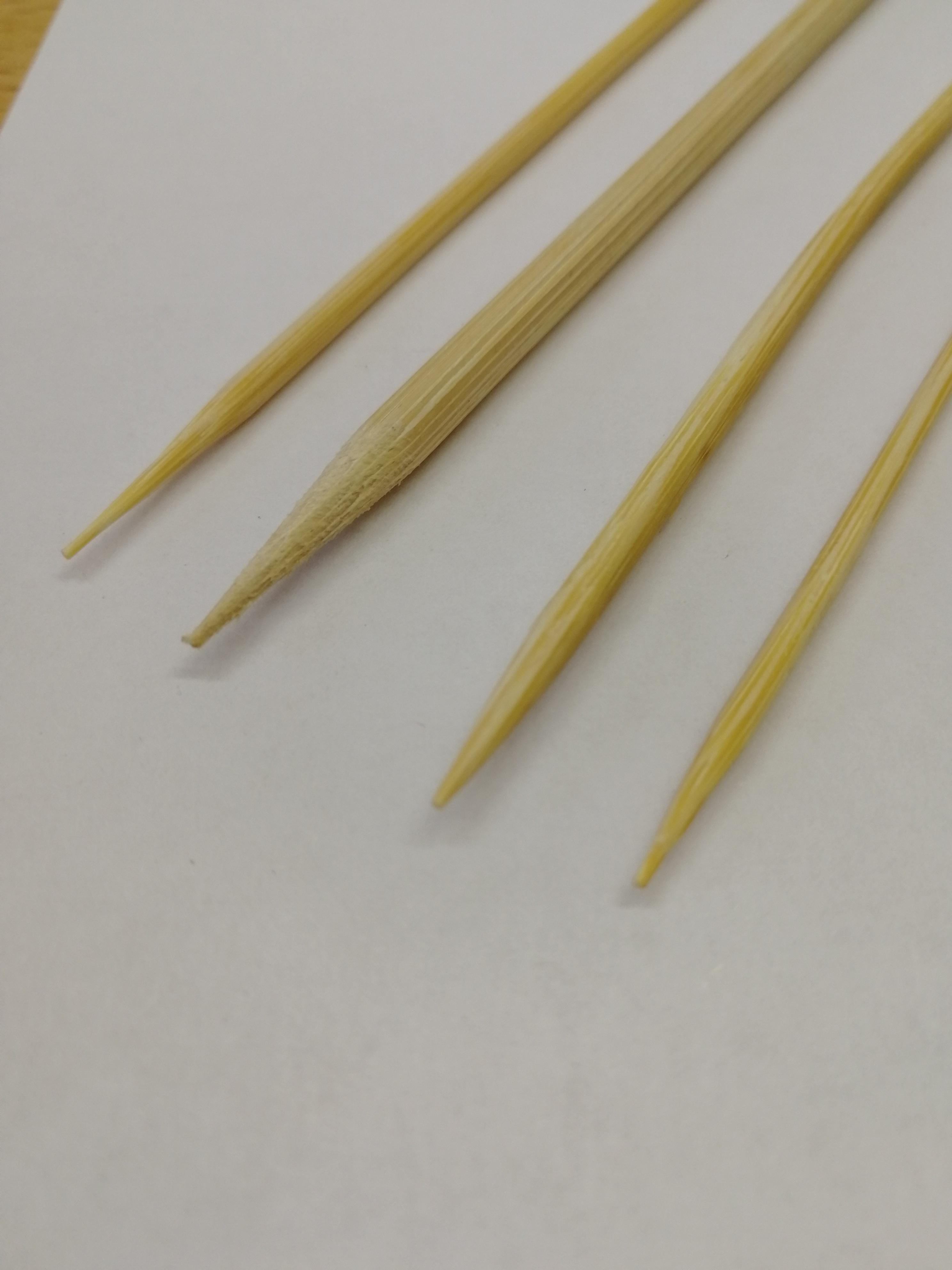 Бамбуковые шпажки разной толщины
