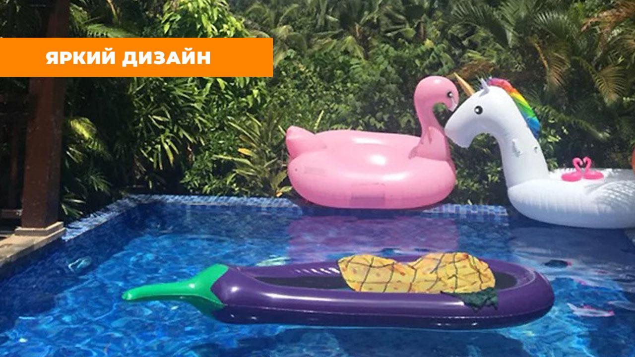 """Надувной матрас для плавания """"Баклажан"""" (250*105*20 см)"""