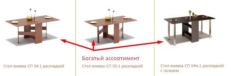 Ассортимент недорогих столов книжек в Москве