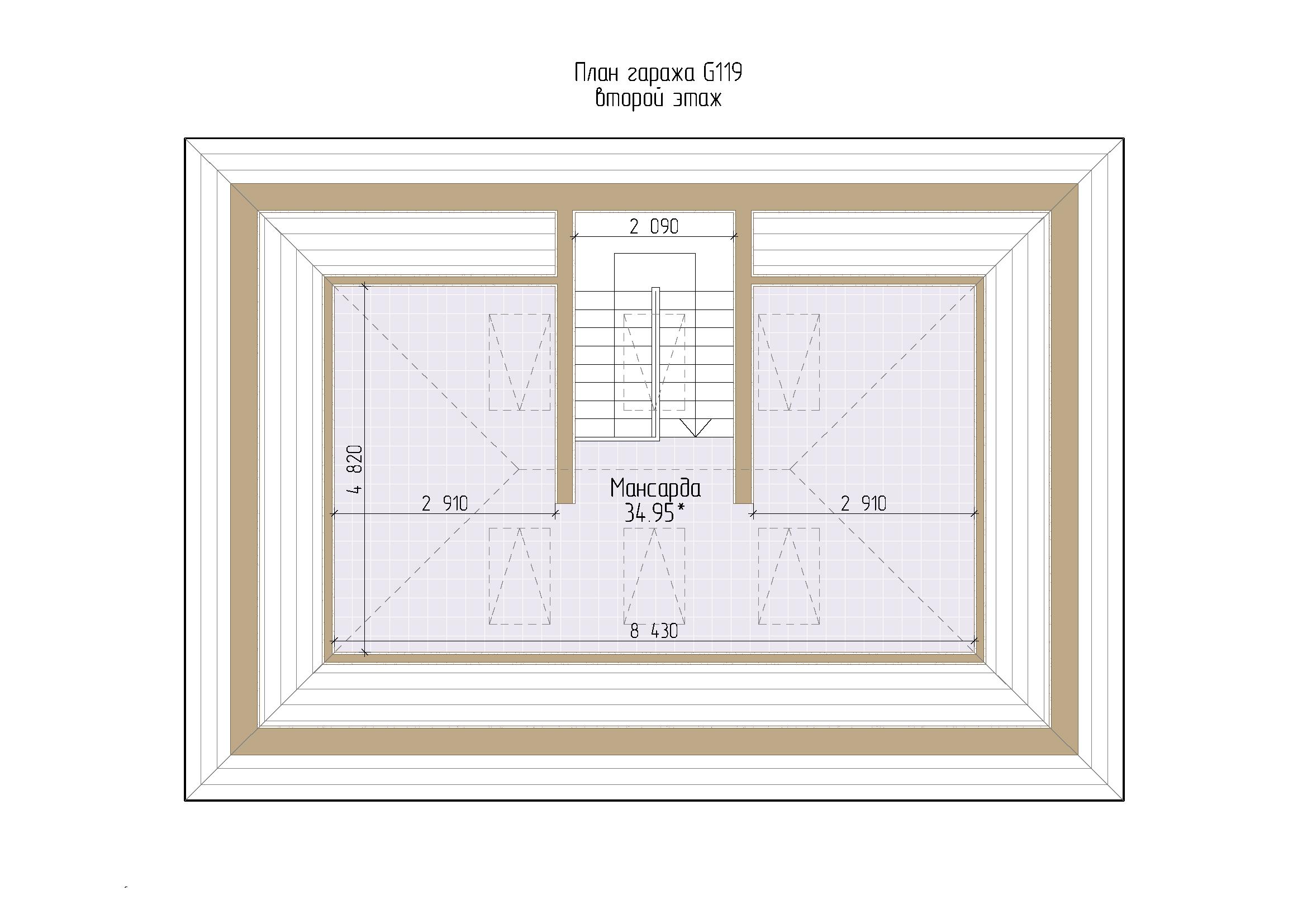 Проект гаража с мансардой и хозблоком