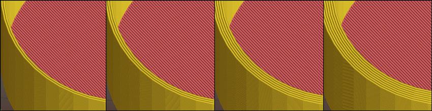 Slic3r / Plater / Print preview – ПЕРИМЕТРЫ 2, 3, 5, 7