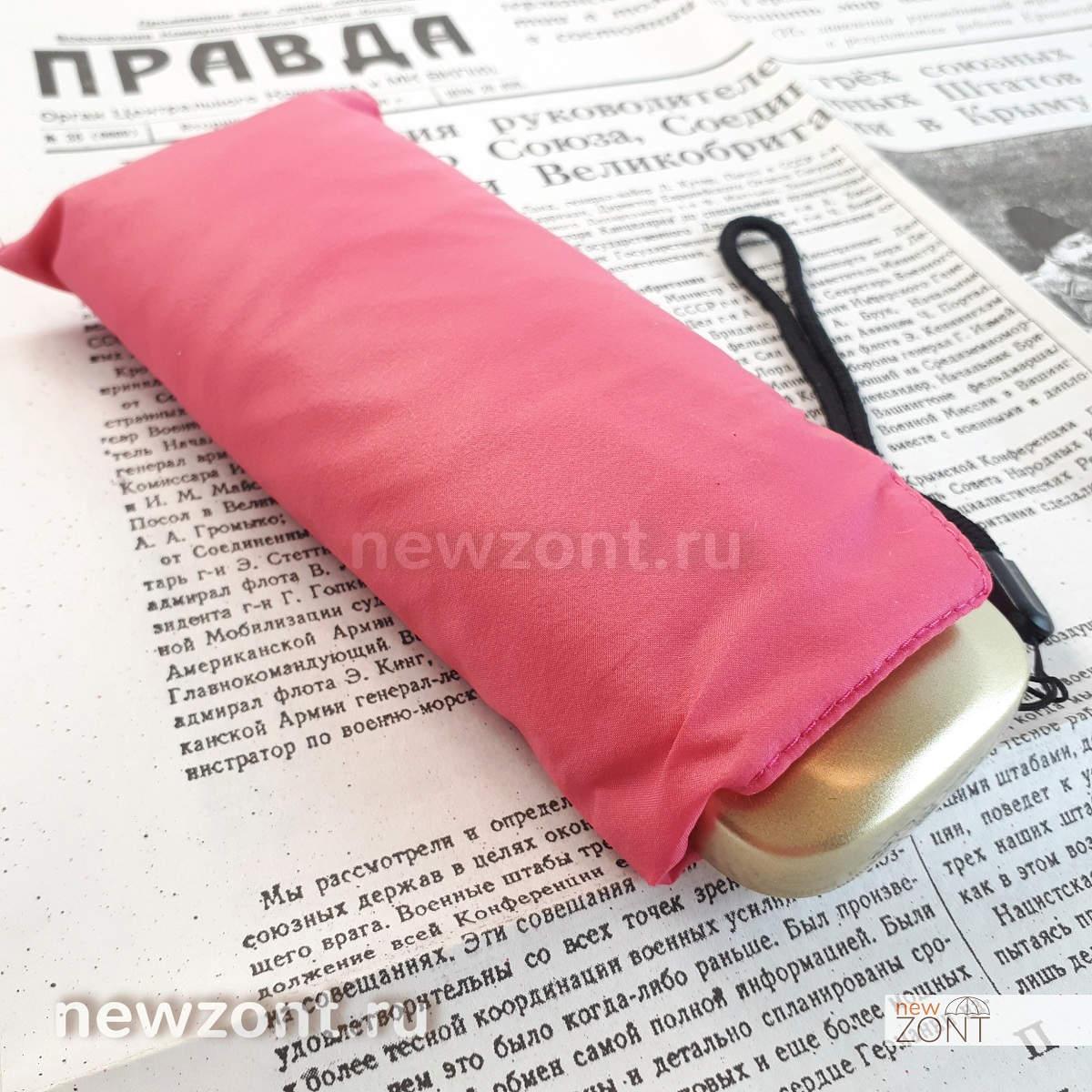 компактный зонт Три Слона розовый