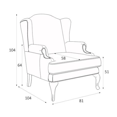 Кресло Френсис размеры KREIND MEBELTUBE