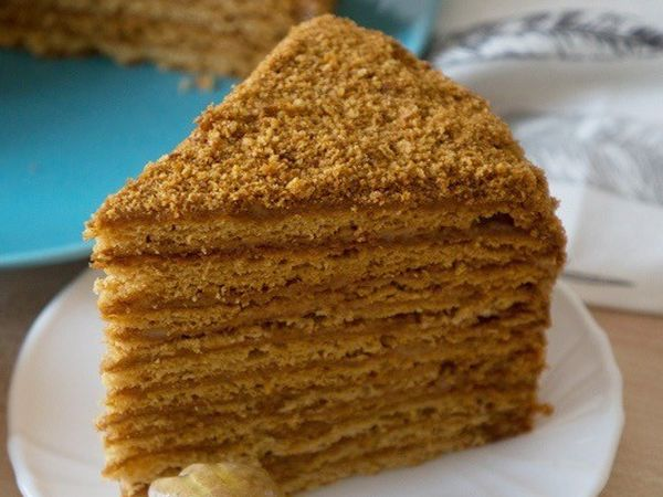 Торт Медовик карамельный без глютена