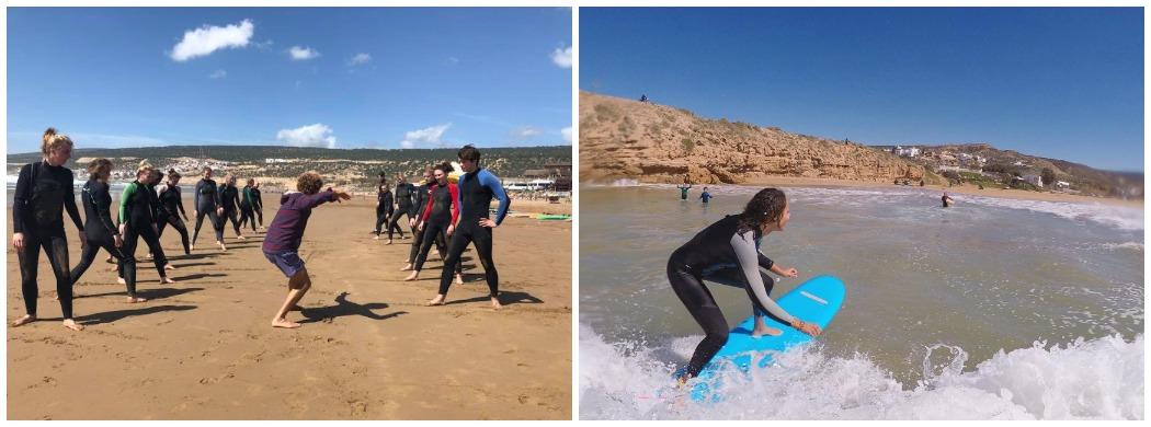 профессиональные уроки серфинга в Марокко