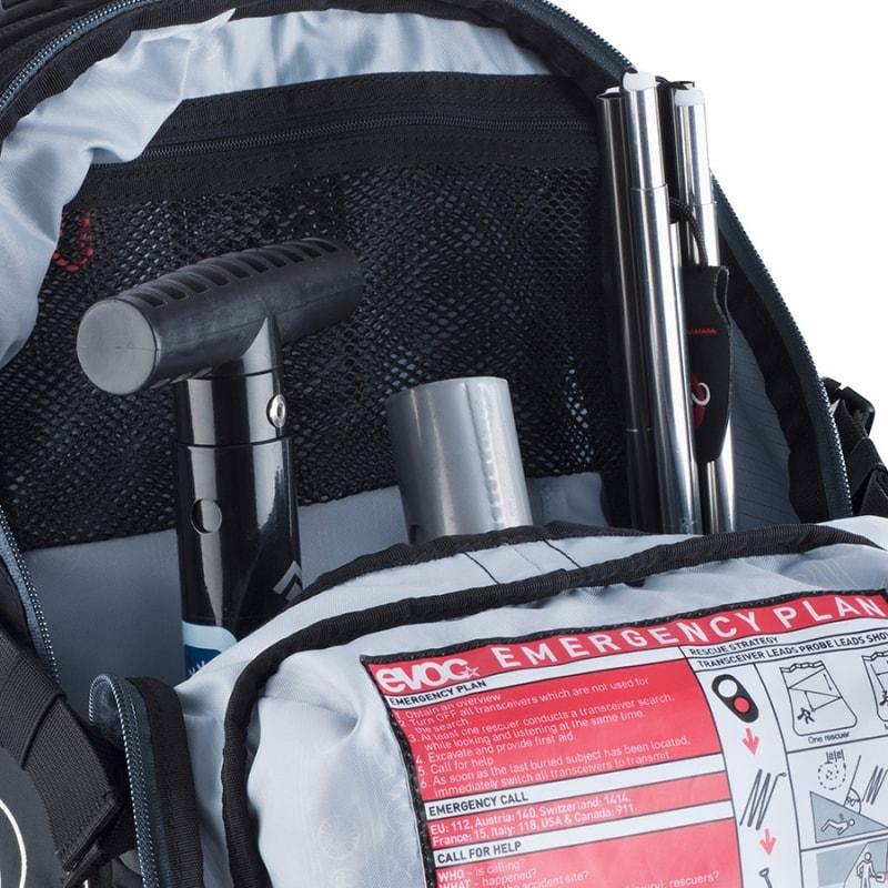 Отсеки для минимального ремнабора в рюкзаке