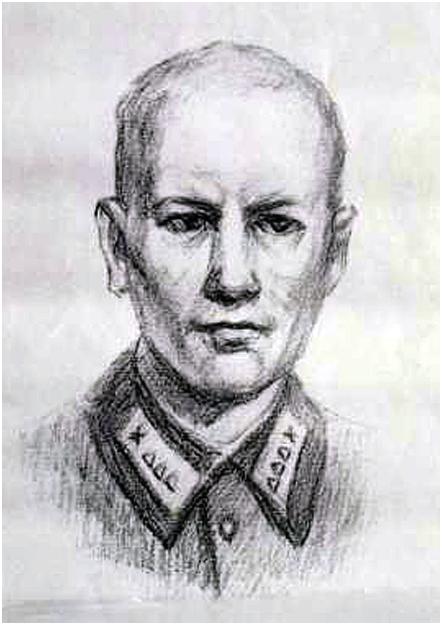 Карандашный рисунок, сделанный по памяти сослуживцем Сиротинина в 1990-е годы