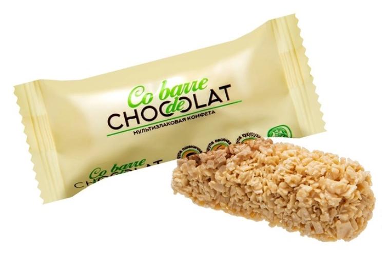 Мультизлаковые конфеты Co barre DE CHOCOLATE с белой глазурью