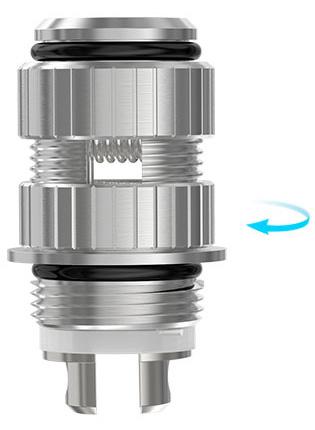 Регулирующий клапан подачи электронной жидкости Joyetech CLR может быть отрегулирован в соответствии с VG/PG уровнем и выходным напряжением батарейки.