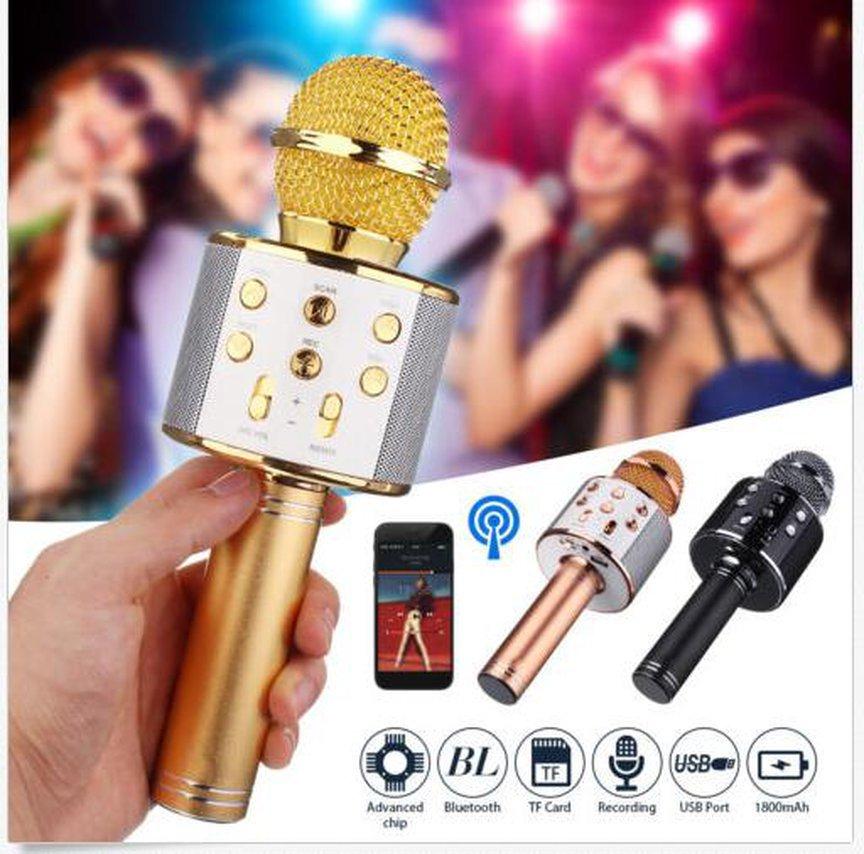 Микрофон колонка Wster WS-858 2 в 1 беспроводной