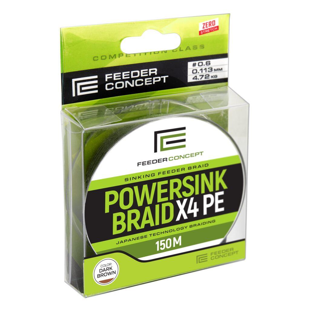 Леска плетеная Feeder Concept Powersink х4 BRAID Dark Brown