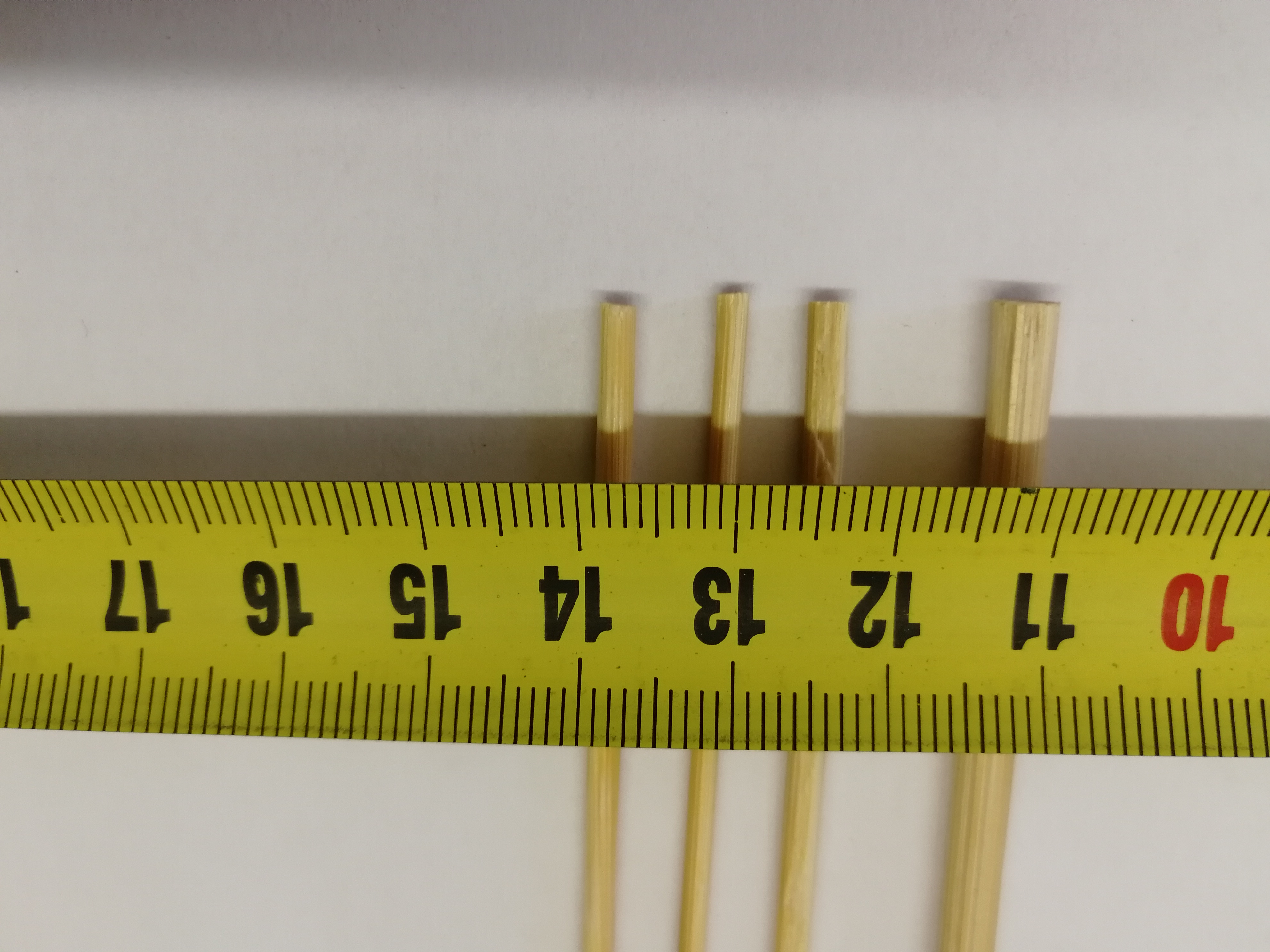 Шпажки для шашлыка разного диаметра