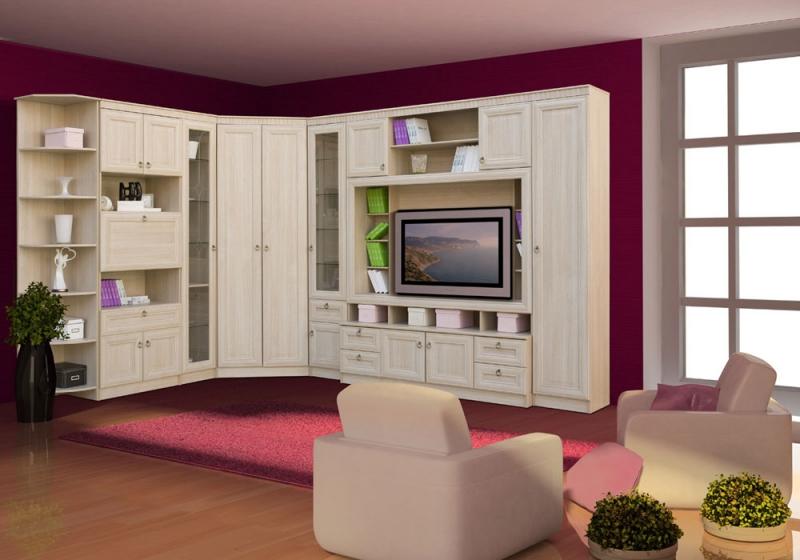 ИННА Мебель для гостиной (денвер светлый)