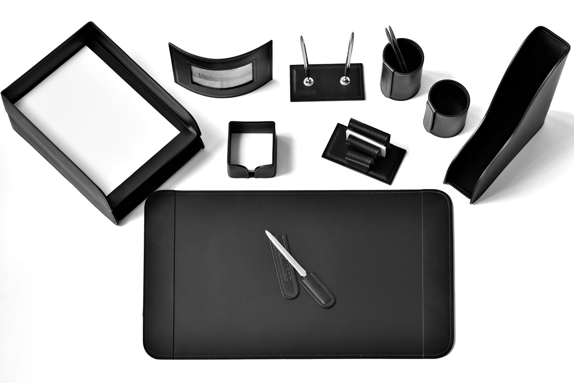 подарочный настольный набор руководителя черный випнабор